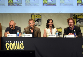 speaks onstage at the 20th Century FOX panel during Comic-Con International 2015 at the San Diego Convention Center on July 11, 2015 in San Diego, California.