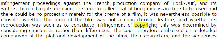 -30  France  Sanction for infringing copyright of a sci fi film released thirty years ago  30
