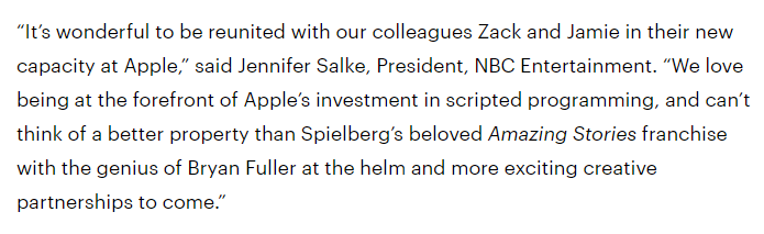 Bryan Fuller s reviving Spielberg s Amazing Stories as Apple series