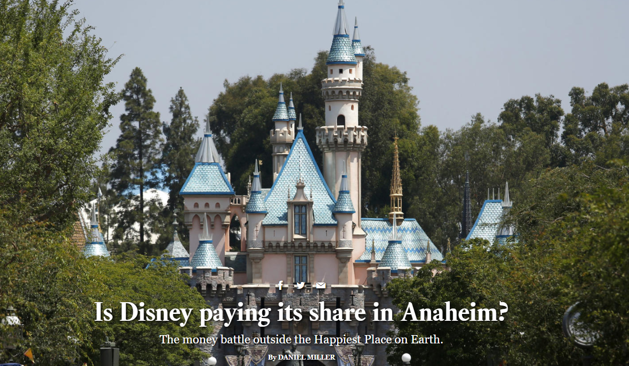 Is Disney paying its share in Anaheim The money battle outside the Happiest Place on Earth Los Angeles Times