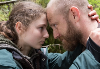 Thomasin McKenzie and Ben Foster appear in Untitled Debra Granik Project by Debra Granik, an official selection of the Premieres program at the 2018 Sundance Film Festival. Courtesy of Sundance Institute | photo by Scott Green. All photos are copyrighted and may be used by press only for the purpose of news or editorial coverage of Sundance Institute programs. Photos must be accompanied by a credit to the photographer and/or 'Courtesy of Sundance Institute.' Unauthorized use, alteration, reproduction or sale of logos and/or photos is strictly prohibited.