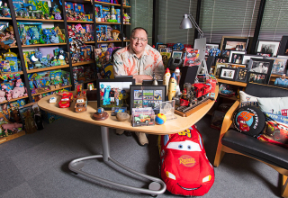 Chief Creative Officer John Lasseter is photographed in his office on March 3, 2017 at Pixar Animation Studios in Emeryville, Calif. (Photo by Deborah Coleman / Pixar)