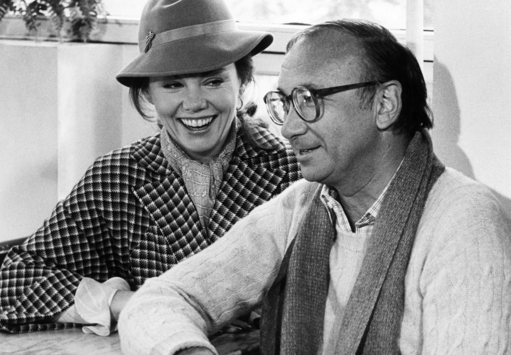 ONLY WHEN I LAUGH, Marsha Mason, screenwriter Neil Simon on set, 1981, (c) Columbia