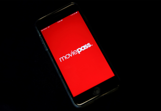 MoviePass, a U.S. movie ticket subscription app, is seen on a mobile phone in this photo illustration in New York, U.S., May 15, 2018. REUTERS/Mike Segar/Illustration - RC1AE04A6970
