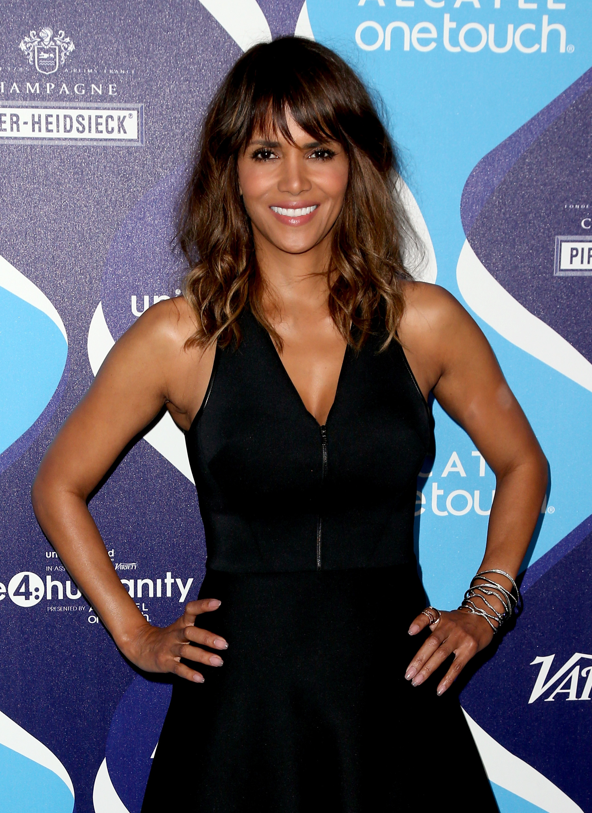 LOS ANGELES, CA - FEBRUARY 19:  Honoree Halle Berry attends the 2nd Annual unite4:humanity Presented By ALCATEL ONETOUCH at the Beverly Hilton Hotel on February 19, 2015 in Los Angeles, California.  (Photo by Frederick M. Brown/Getty Images for Variety)