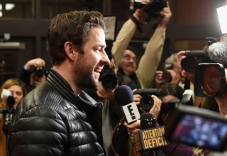 """PARK CITY, UT - JANUARY 29:  Actor John Krasinski attends """"The Hollars"""" Premiere during the 2016 Sundance Film Festival at Eccles Center Theatre on January 29, 2016 in Park City, Utah.  (Photo by Fred Hayes/Getty Images for Sundance Film Festival)"""